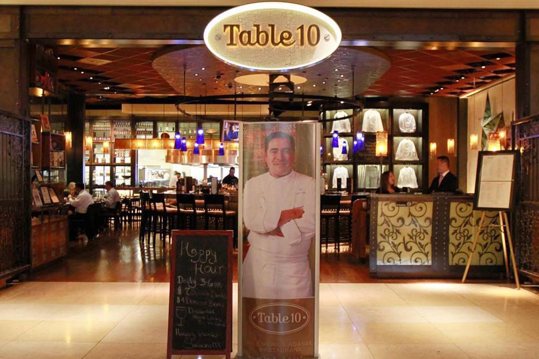 Emeril Lagasse's Table 10 will close on Dec. 31. Facebook