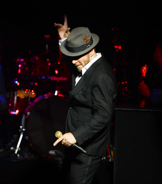 Matt Goss is shown performing on July 11, 2015 at The Gossy Room at Caesars Palace. (Denise Truscello)