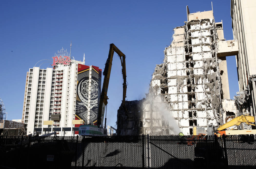Work is underway to demolish the historic Las Vegas Club in downtown Friday, Oct. 27, 2017, to make way for the construction of the new hotel and casino. Bizuayehu Tesfaye Las Vegas Review-Journal ...