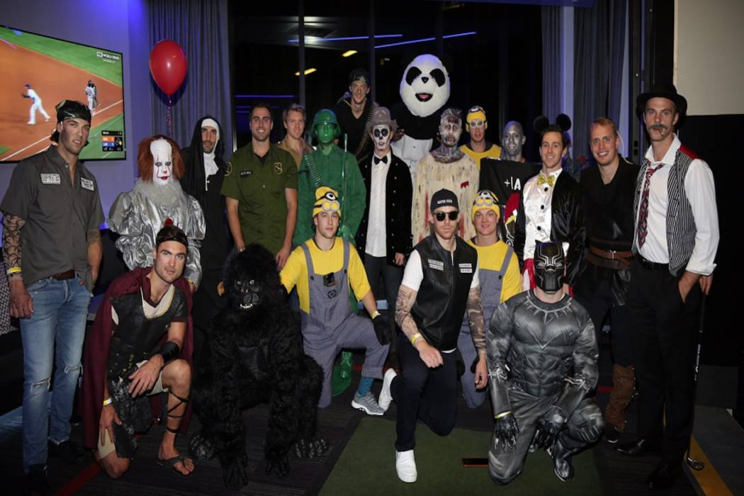 Vgk Halloween Party 2020 Pennywise, panda are part of Golden Knights' Halloween fun | Las