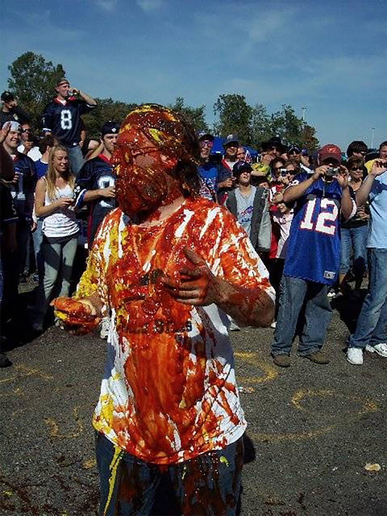 Buffalo Bills fans tailgate before a game. Photo provided by Ken Johnson.