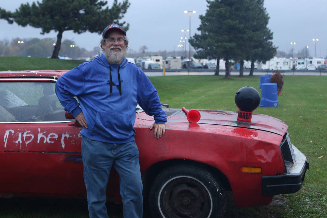 Longtime Buffalo Bills fan and tailgater Kenny Johnson, also known as Pinto Ron, at Orchard Park, New York, Saturday, Oct. 28, 2017. Heidi Fang Las Vegas Review-Journal @HeidiFang
