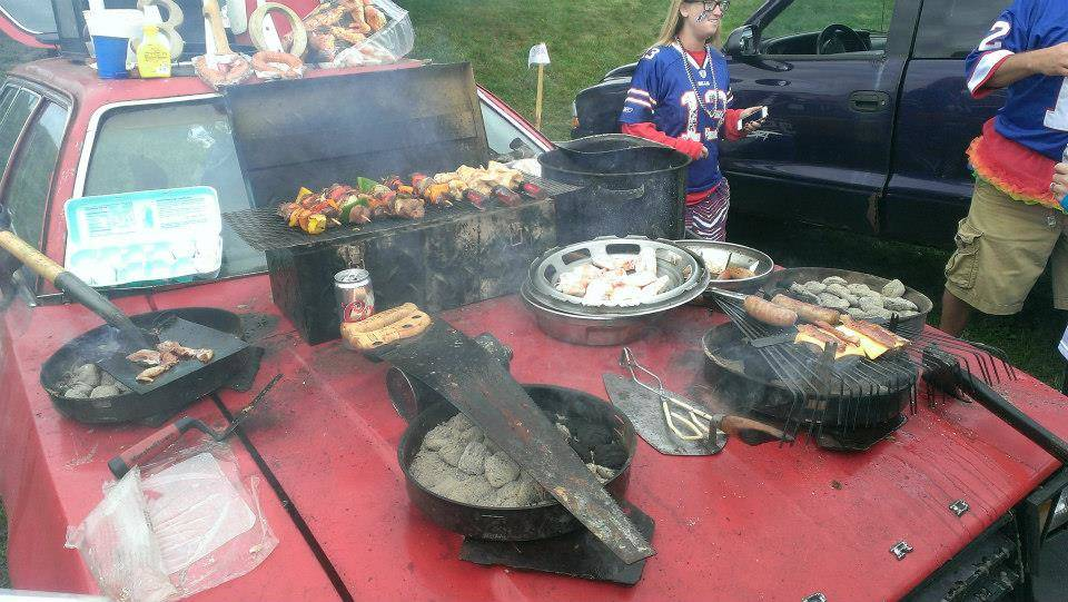 Buffalo Bills fans tailgate before a game. Special to the Las Vegas Review-Journal