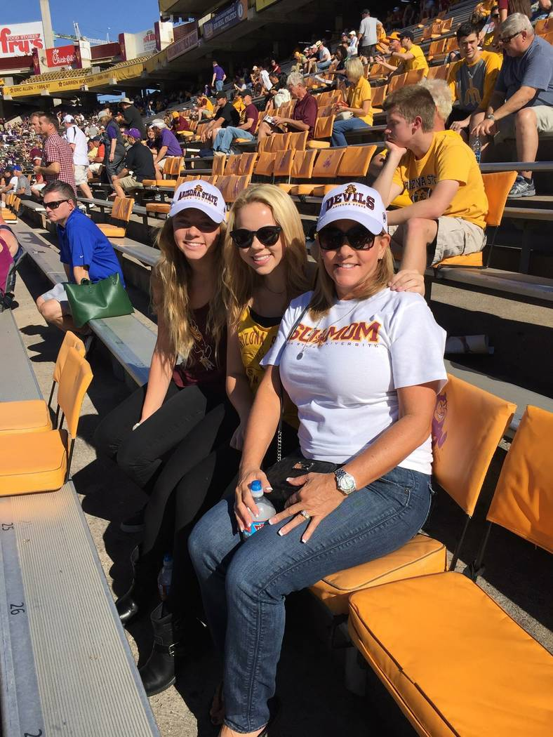 Madison Carver and Brook Carver pose with their mother, Lorraine Carver in this undated photo. Lorraine and her husband, Dennis, died in a crash in Riverside, Calif., on Oct. 16, 2017. The couple  ...
