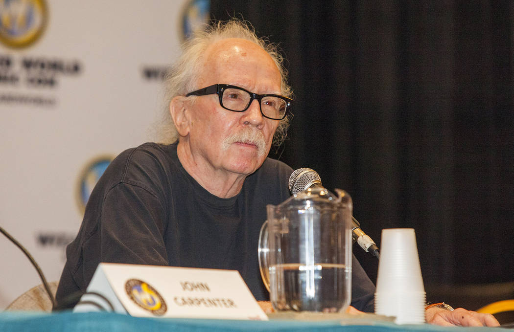director john carpenter during the wizard world chicago comic con at the donald e stephens