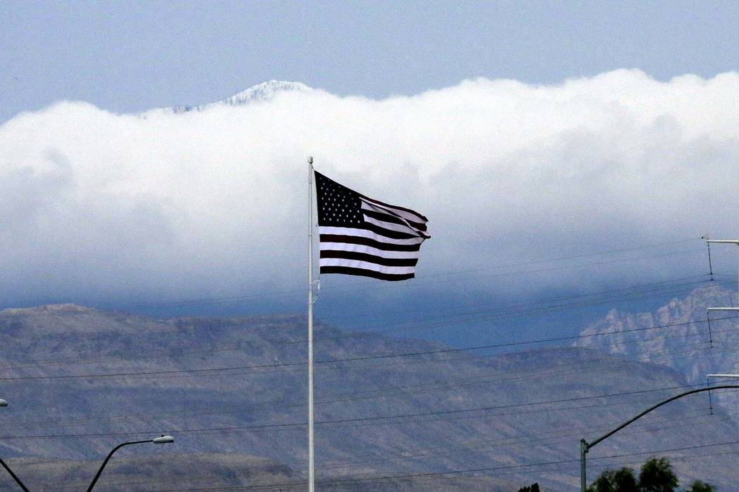 Some clouds and near-normal temperatures are forecast for Monday in the Las Vegas Valley. (Bizuayehu Tesfaye/Las Vegas Review-Journal)@bizutesfaye