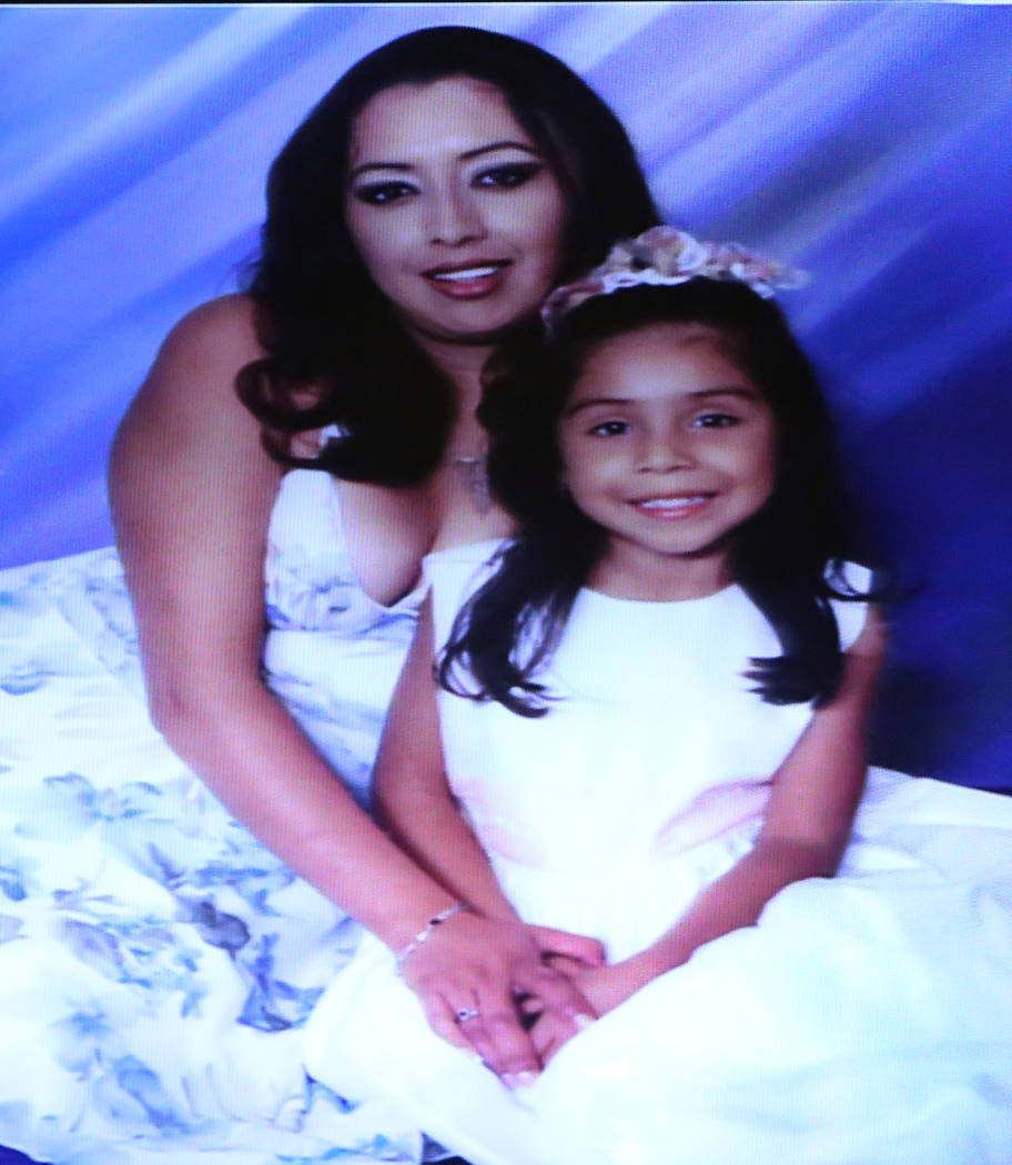 "A photograph of murder victims Ignacia ""Yadira"" Martinez and her daughter, Karla. Bizuayehu Tesfaye/Las Vegas Review-Journal @bizutesfaye"