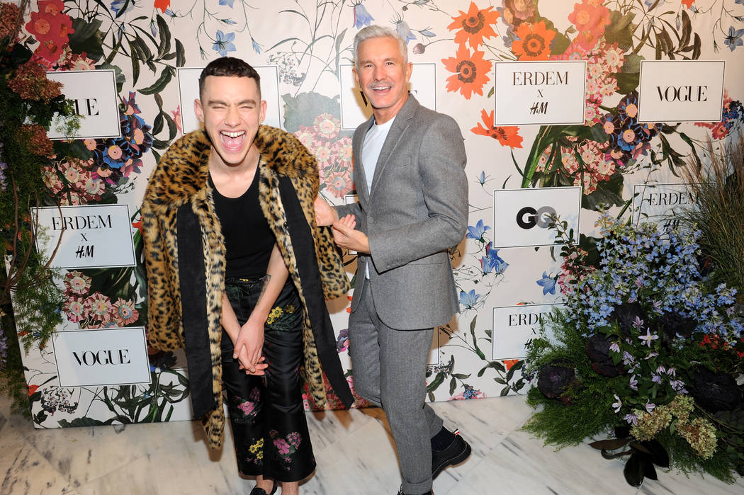 Olly Alexander of Years & Years and Baz Luhrmann attend the ERDEM X H&M Exclusive Event at H&M Flagship Fifth Avenue Store on October 24, 2017 in New York City.  (Photo by Brad Barket/ ...