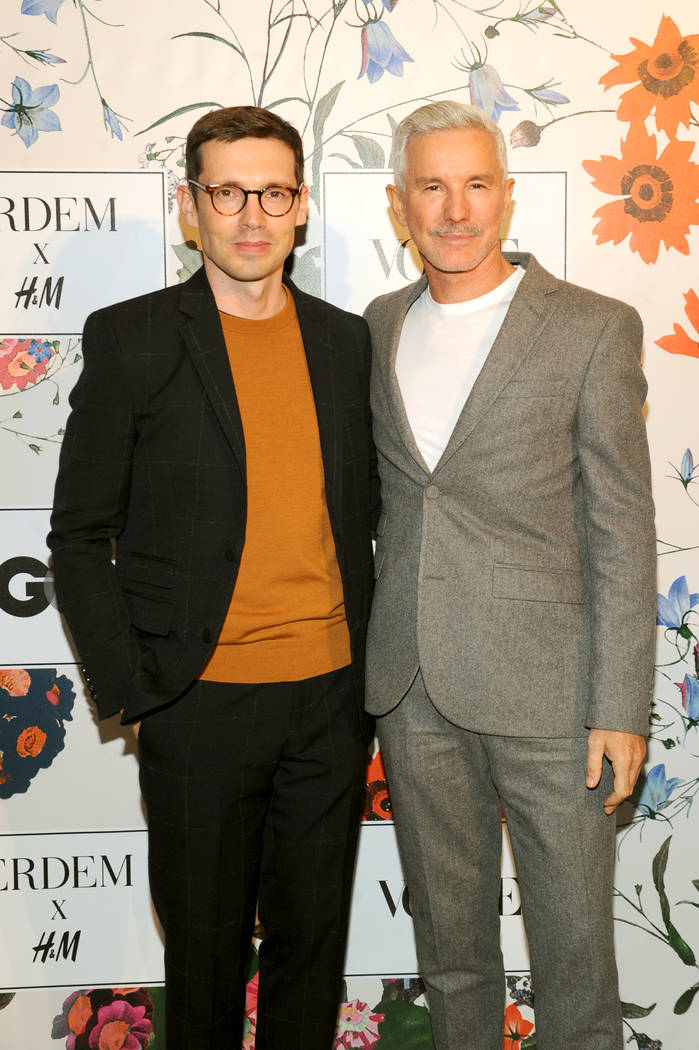 NEW YORK, NY - OCTOBER 24: Erdem Moralioglu and Baz Luhrmann attend the ERDEM X H&M Exclusive Event at H&M Flagship Fifth Avenue Store on October 24, 2017 in New York City.  (Photo by Brad ...