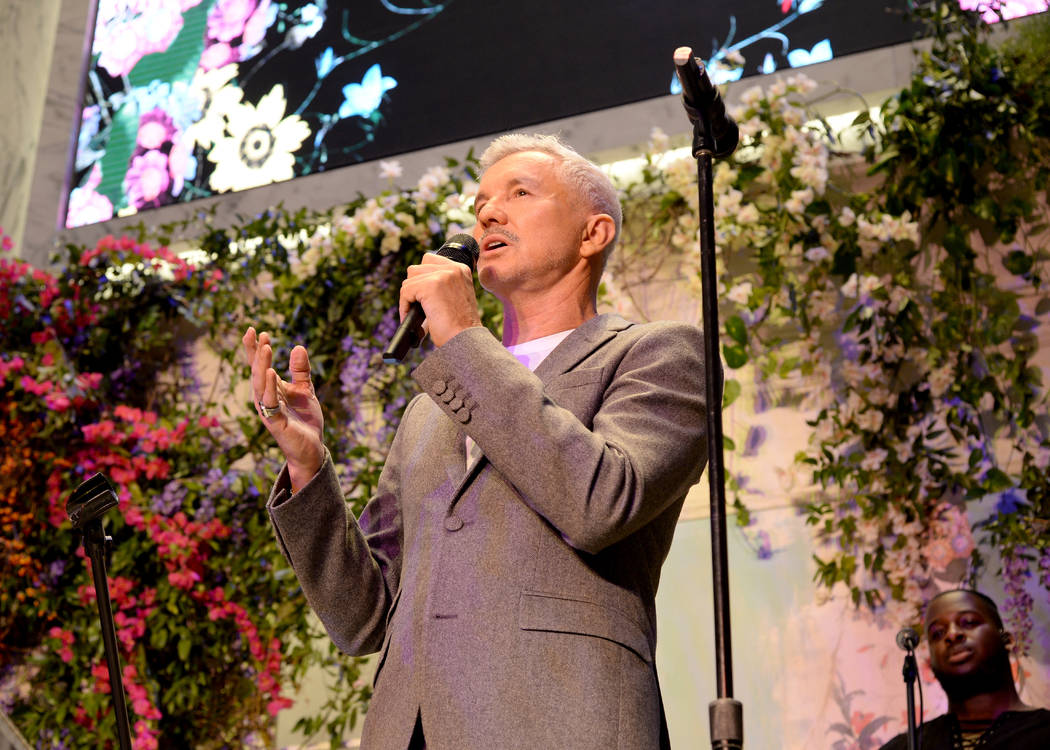 NEW YORK, NY - OCTOBER 24: Baz Luhrmann speaks at the ERDEM X H&M Exclusive Event at H&M Flagship Fifth Avenue Store on October 24, 2017 in New York City.  (Photo by Andrew Toth/Getty Imag ...