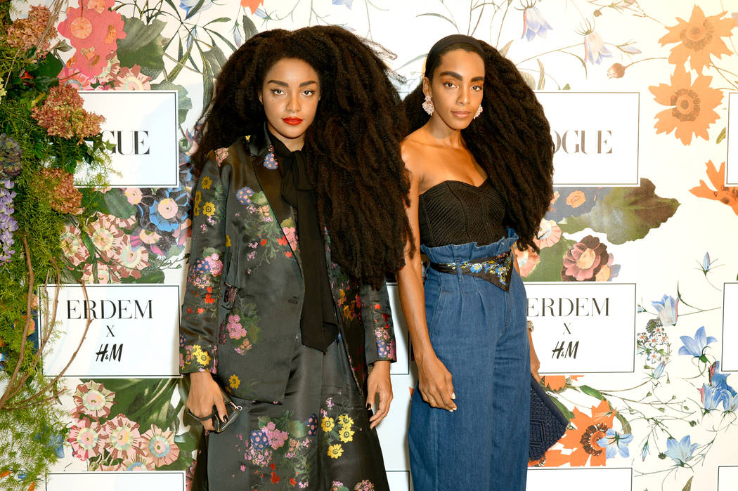 TK Quann and Cipriana Quann attend the ERDEM X H&M Exclusive Event at H&M Flagship Fifth Avenue Store on October 24, 2017 in New York City.  (Photo by Andrew Toth/Getty Images for H&M)