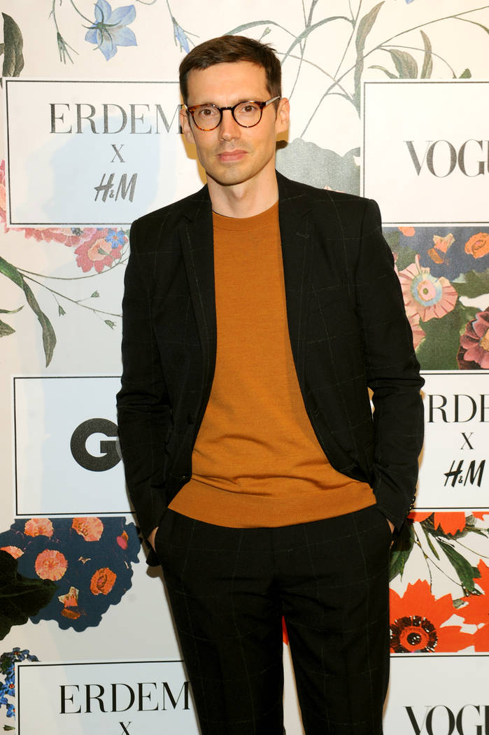 NEW YORK, NY - OCTOBER 24:  Designer Erdem Moralioglu attends the ERDEM X H&M Exclusive Event at H&M Flagship Fifth Avenue Store on October 24, 2017 in New York City.  (Photo by Brad Barke ...