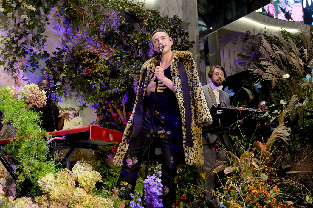 NEW YORK, NY - OCTOBER 24: Olly Alexander and Mikey Goldsworthy of Years & Years perform at the ERDEM X H&M Exclusive Event at H&M Flagship Fifth Avenue Store on October 24, 2017 in Ne ...