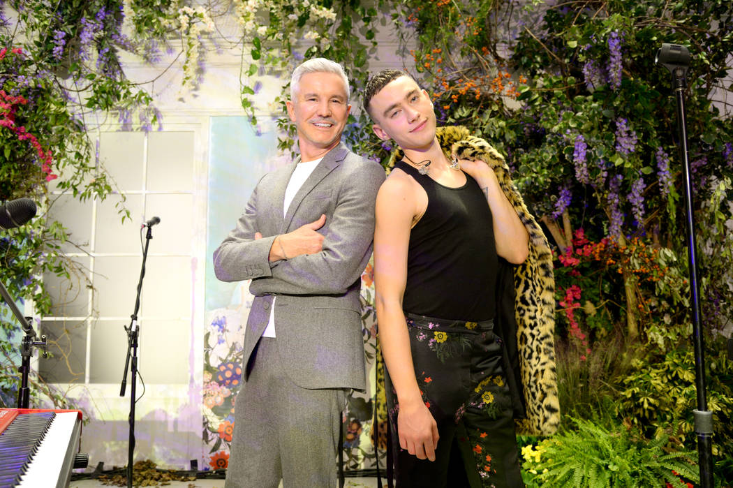 NEW YORK, NY - OCTOBER 24:  Baz Luhrmann and Olly Alexander of Years & Years attend the ERDEM X H&M Exclusive Event at H&M Flagship Fifth Avenue Store on October 24, 2017 in New York C ...