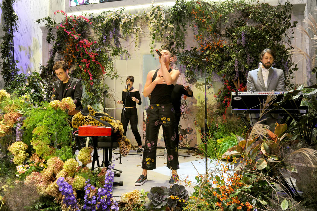 NEW YORK, NY - OCTOBER 24:  Emre Turkmen, Olly Alexander, and Mikey Goldsworthy of Years & Years perform at the ERDEM X H&M Exclusive Event at H&M Flagship Fifth Avenue Store on Octobe ...