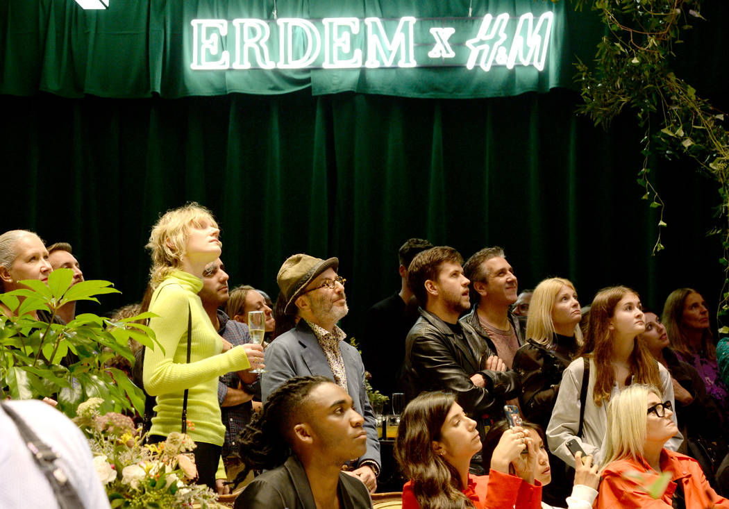 NEW YORK, NY - OCTOBER 24:  A view of the crowd at the ERDEM X H&M Exclusive Event at H&M Flagship Fifth Avenue Store on October 24, 2017 in New York City.  (Photo by Andrew Toth/Getty Ima ...