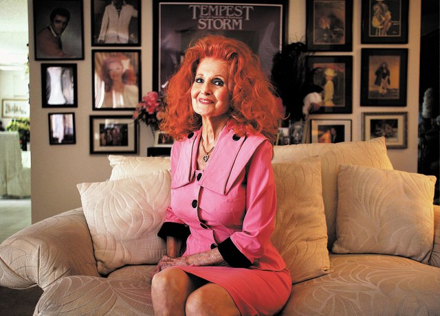 """Burlesque legend Tempest Storm, shown in her home in 2011, is slated to participate in a panel discussion during """"Putting the Sin in Sin City: 60 Years of Burlesque in Las Vegas"""" at 7 p.m. Mar ..."""