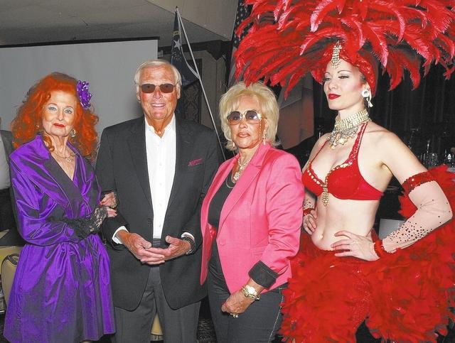 Tempest Storm, from left, Adam West, Annee Nounna and Venna Roseland
