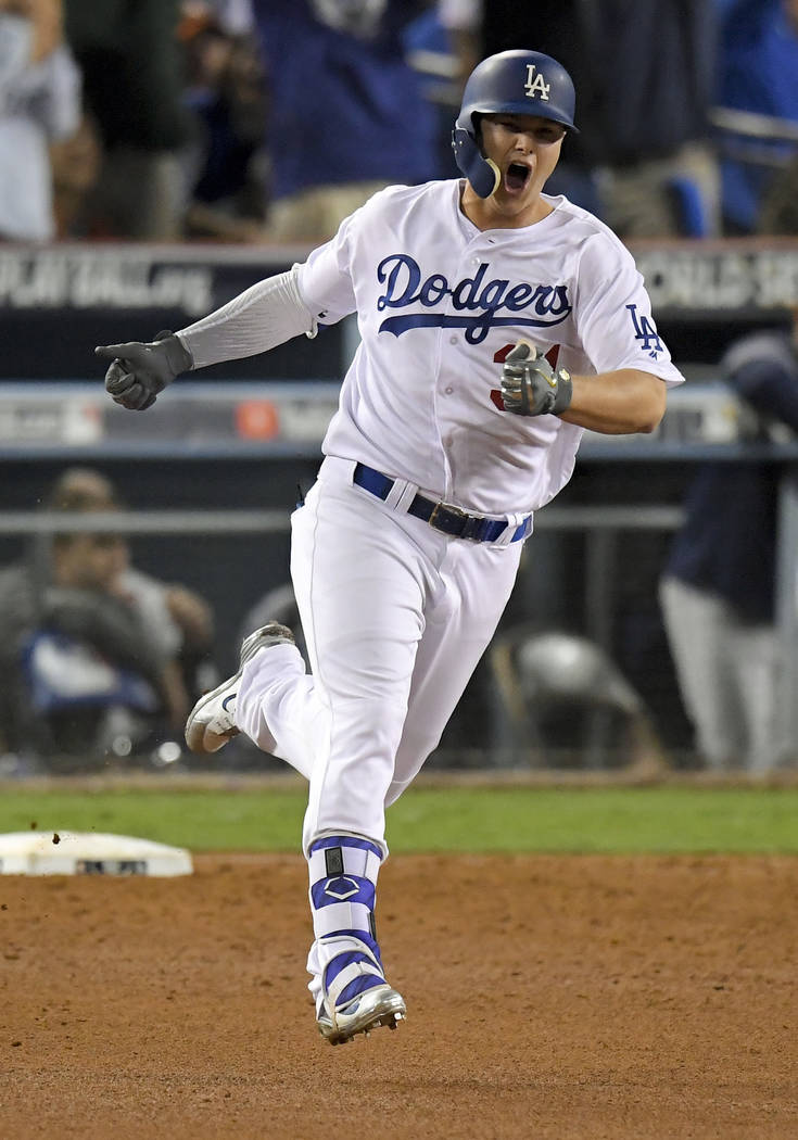 dodgers force world series  game     win  astros las vegas review journal