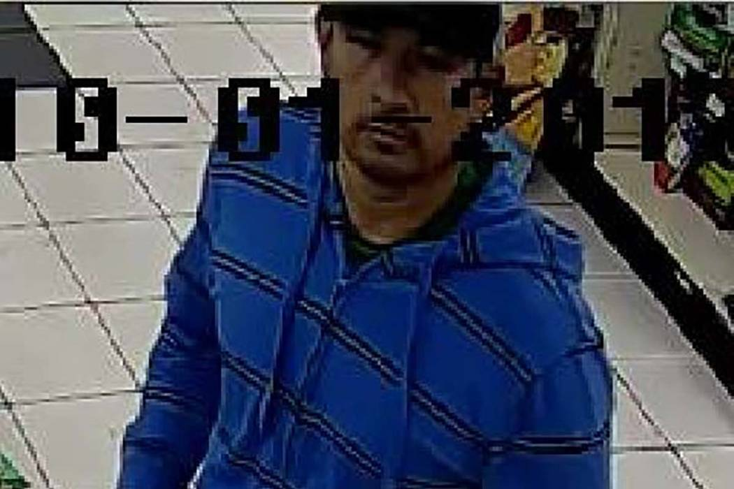Las Vegas police released this photo of a robbery suspect who pulled a gun on a cashier at a convenience store near Flamingo Road and Valley View Boulevard on October 1.