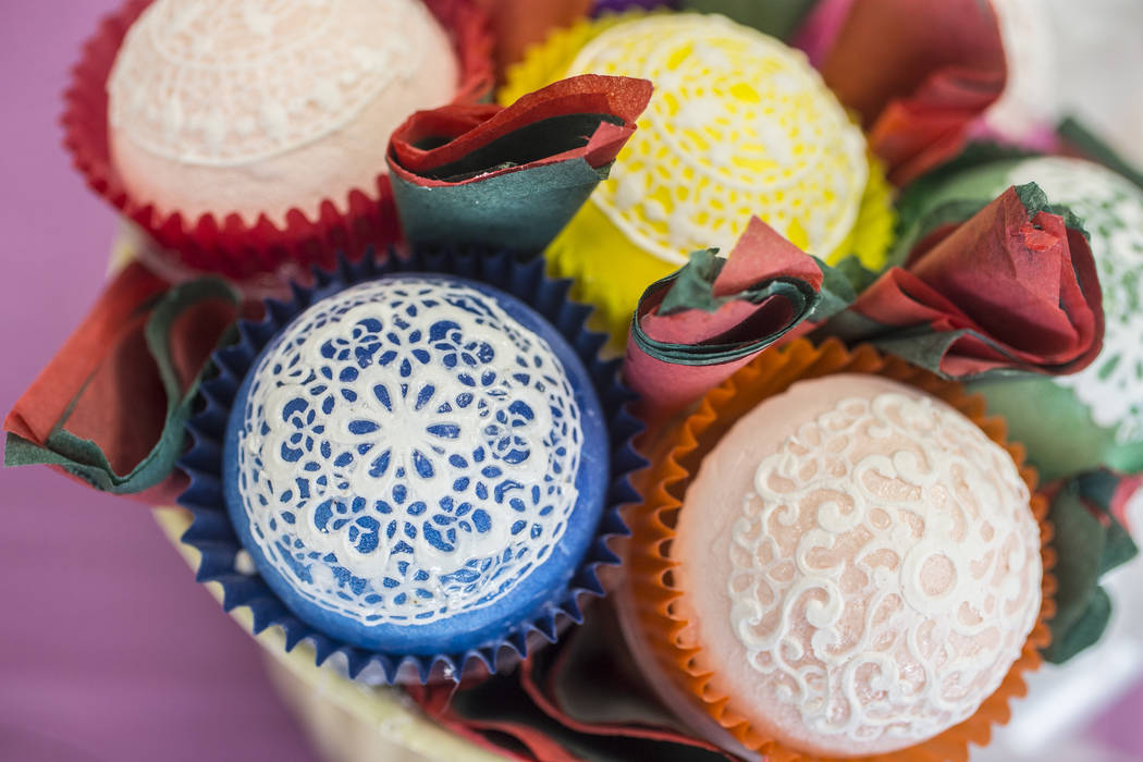 Sun Keeler creates edible lace designs for weddings and other special events. Photo taken on Wednesday, June 7, 2017, at Keeler's store front, in Las Vegas. Benjamin Hager Las Vegas Review-Journal ...