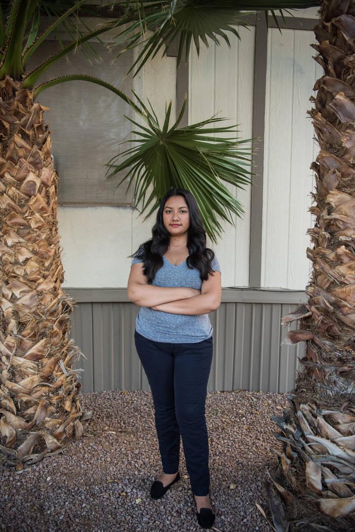 Kathia Sotelo Calderon at home on Tuesday, Aug. 29, 2017, in Las Vegas. Morgan Lieberman Las Vegas Review-Journal