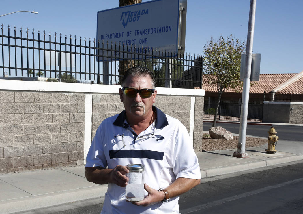 Former state employee Kurt Garrett blew the whistle about alleged moonshine sales at the Nevada Department of Transportation's Las Vegas facility. Bizuayehu Tesfaye/Las Vegas Review-Journal @bizut ...