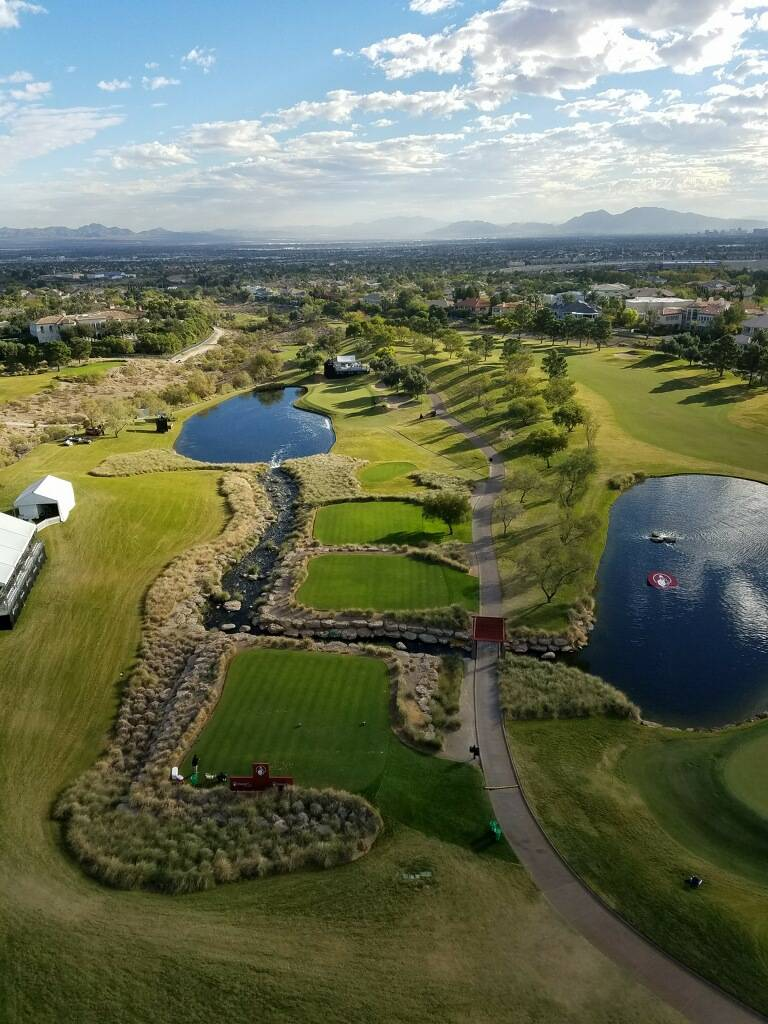 A panoramic view of TPC Summerlin from the Golf Channel crane. (Courtesy: Jim Boring)