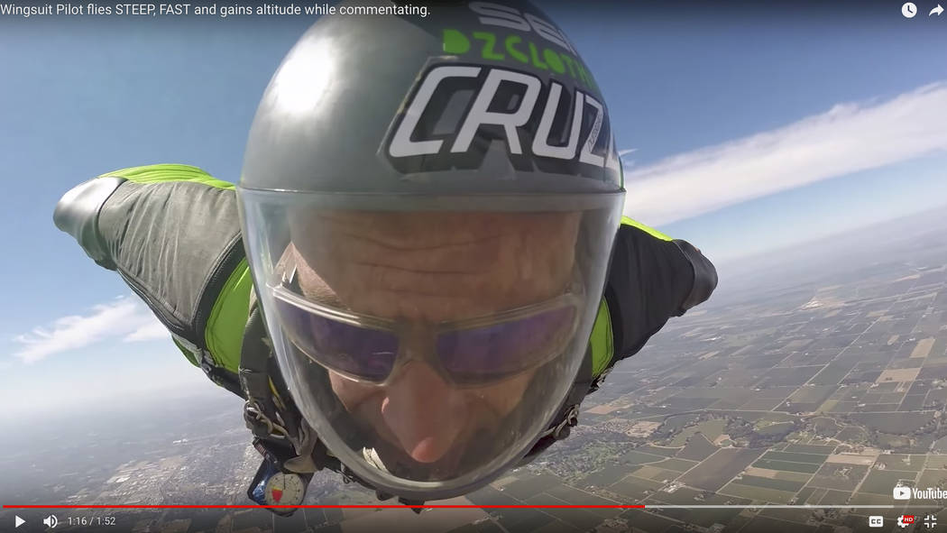 Chris Geiler of California is the current U.S. National and World Champion of Performance Flying. He has been wingsuit flying for four years. skydivefyrositylasvegas.com