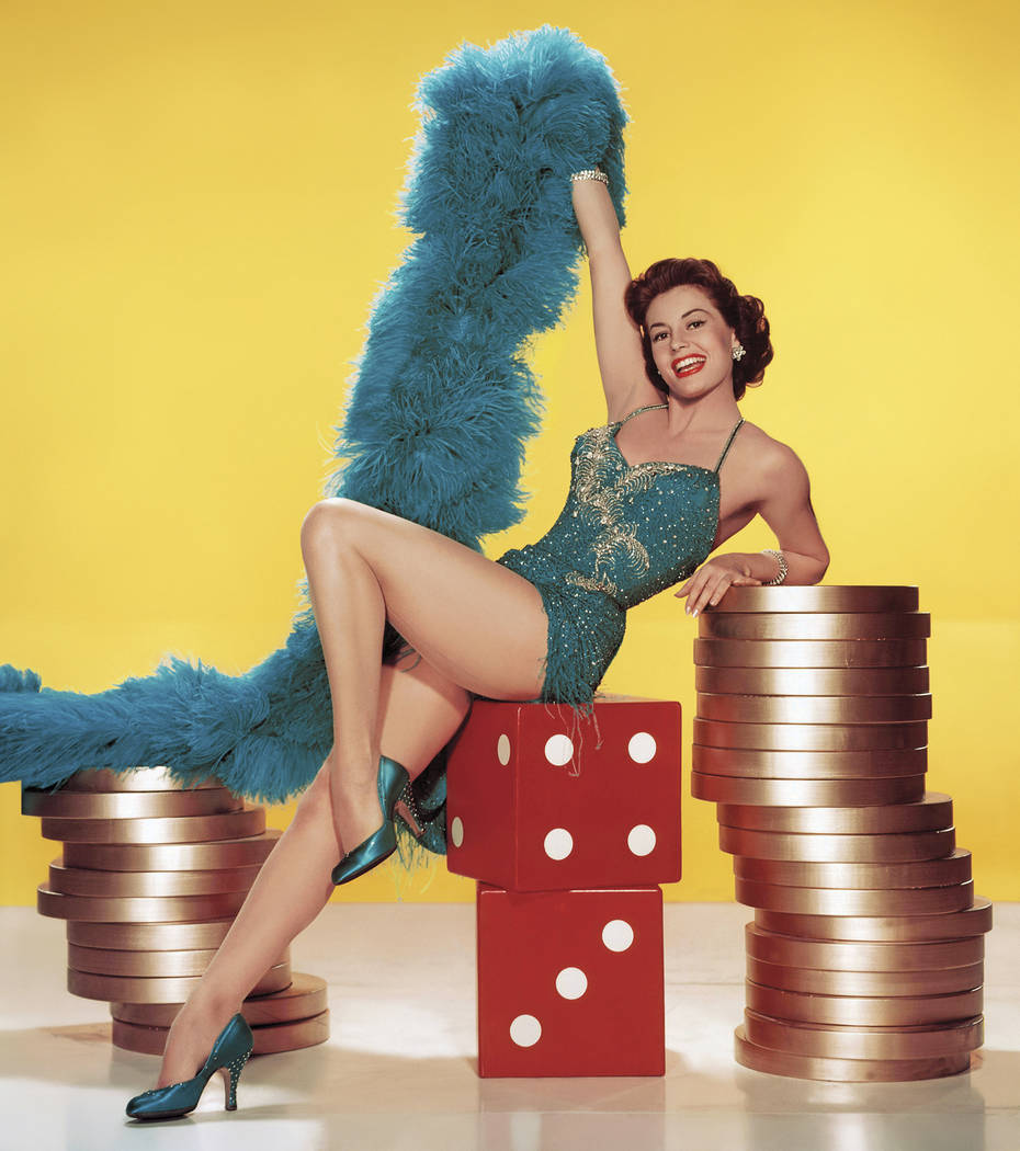 """From """"Vegas Gold"""" by David Wills Cyd Charisse in """"Meet Me in Las Vegas"""" 1956"""