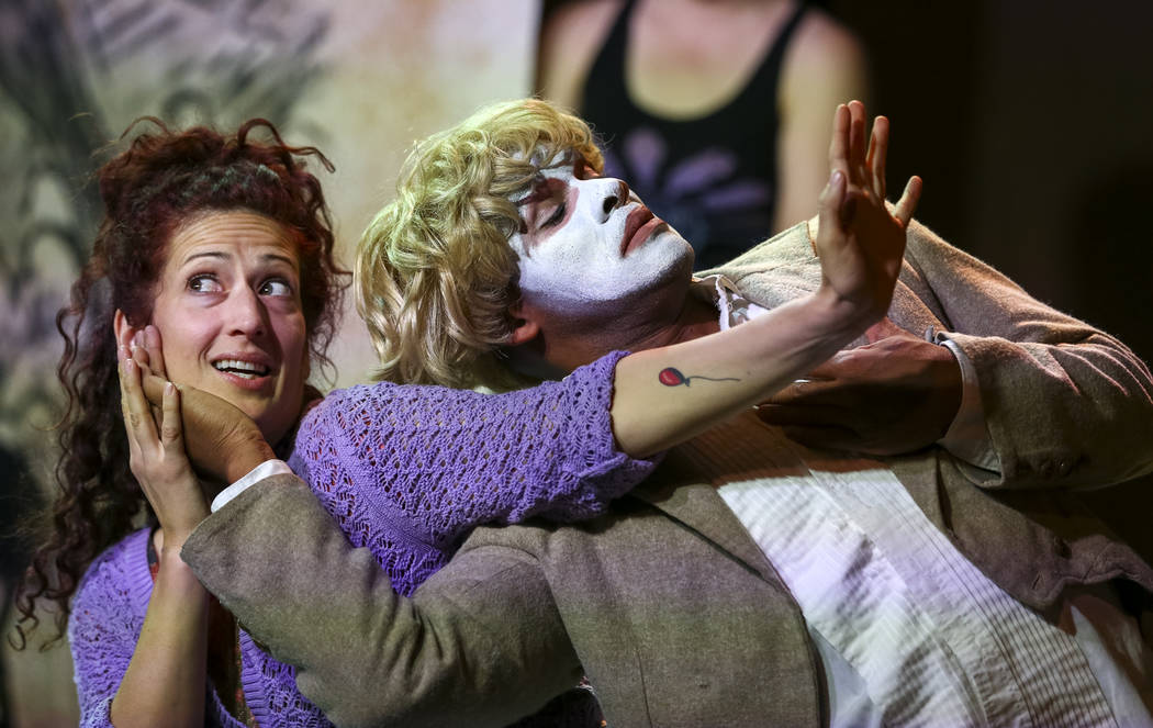 """Actors take part in a dress rehearsal for """"An Octoroon"""" at the Majestic Repertory Theatre in downtown Las Vegas, Thursday, Oct. 26, 2017. Richard Brian Las Vegas Review-Journal @vegasphotograph"""
