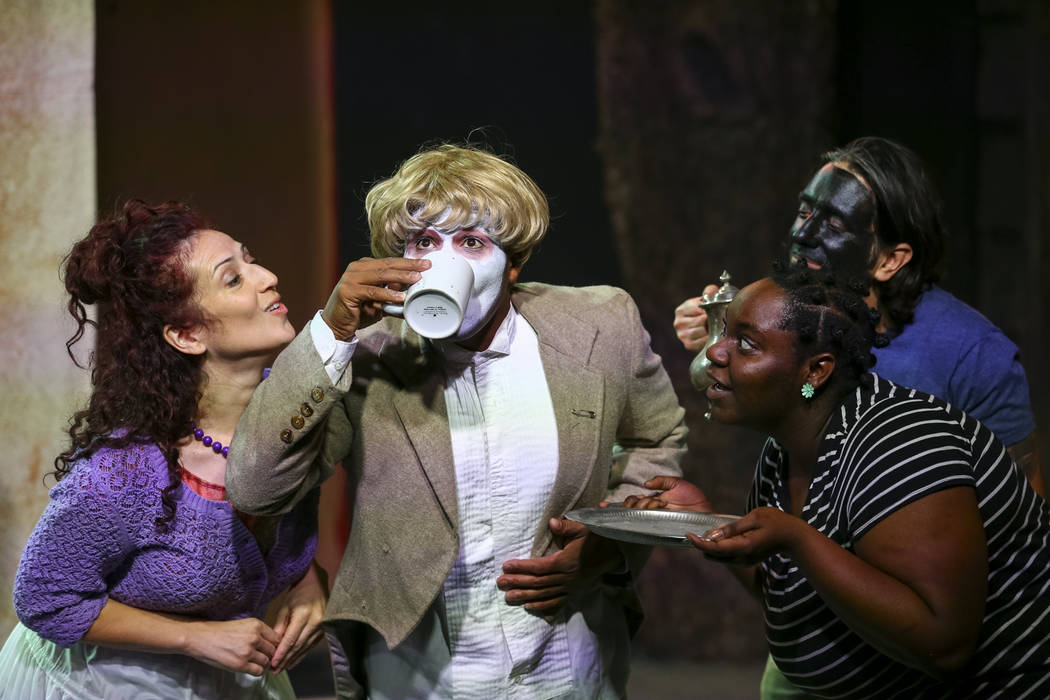 """Actors take part in a dress rehearsal for """"An Octoroon"""" at the Majestic Repertory Theatre in downtown Las Vegas, Thursday, Oct. 26, 2017. Richard Brian Las Vegas Review-Journal @ ..."""