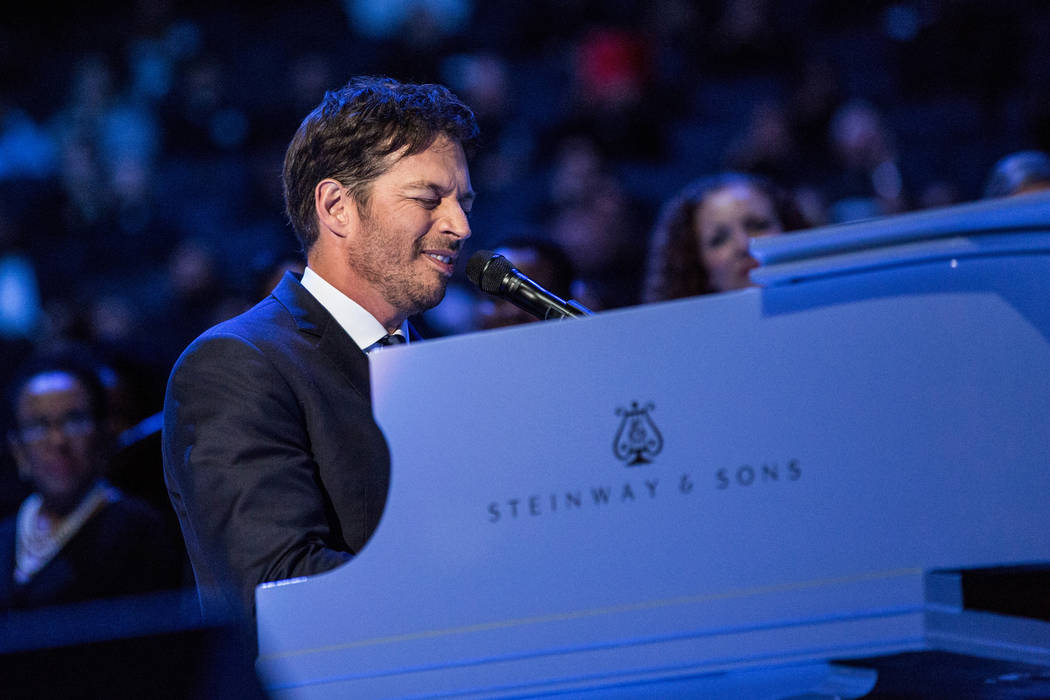 """Harry Connick Jr. sings """"How Great Thou Art"""" prior to a Mass led by Pope Francis at Madison Square Garden Friday, Sept. 25, 2015 in New York. Pope Francis is visiting New York Ci ..."""