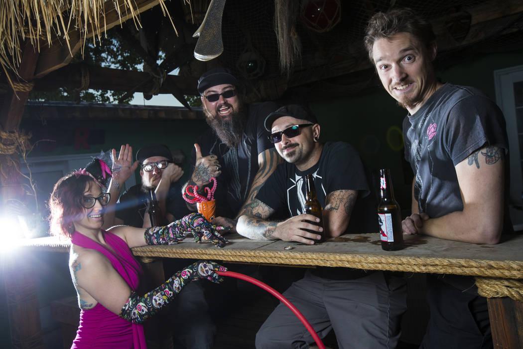 Members of Las Vegas band Franks and Deans pose in Las Vegas on Wednesday, Oct. 25, 2017. Chase Stevens Las Vegas Review-Journal @csstevensphoto