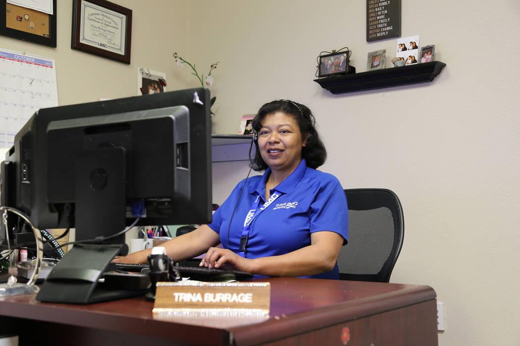 Trina Burrage-Simon, supervisor of telephone operators at University Medical Center on the night of theOct. 1mass shooting. UMC