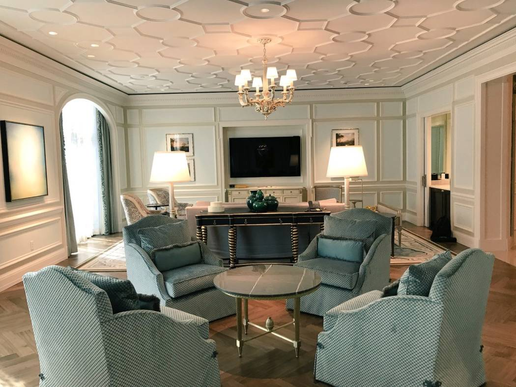 The interior of a villa inside the Palace Tower at Caesars Palace. (Todd Prince/Las Vegas Review-Journal)