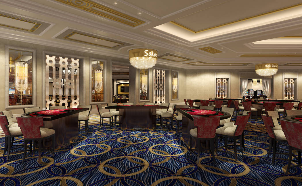 Rendering of casino floor upgrades provided by the Palazzo hotel-casino.