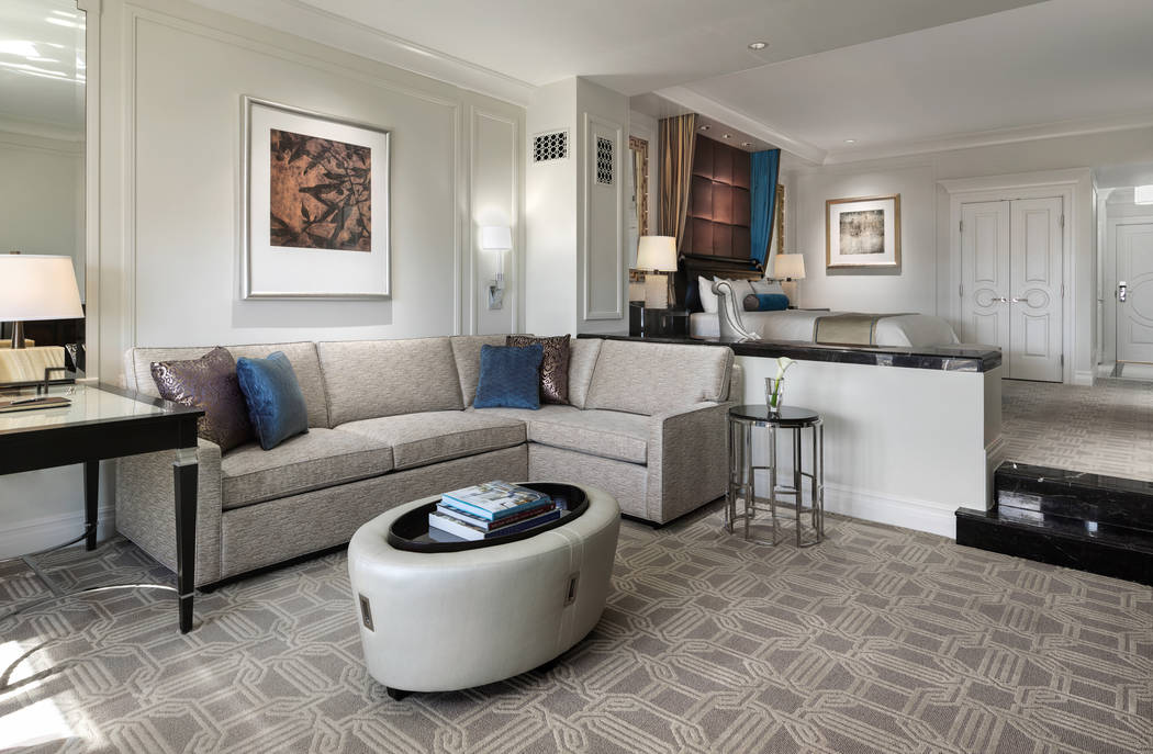 Photo of a Luxury Suite provided by the Palazzo hotel-casino.