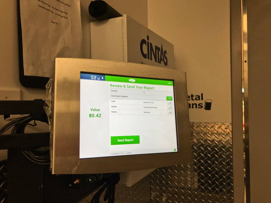 The electronic LeanPath system tracks the food waste in Ikea's cafes and kitchens. A recently tossed cinnamon roll was valued by the system at $0.42. (Madelyn Reese/View) @MadelynGReese