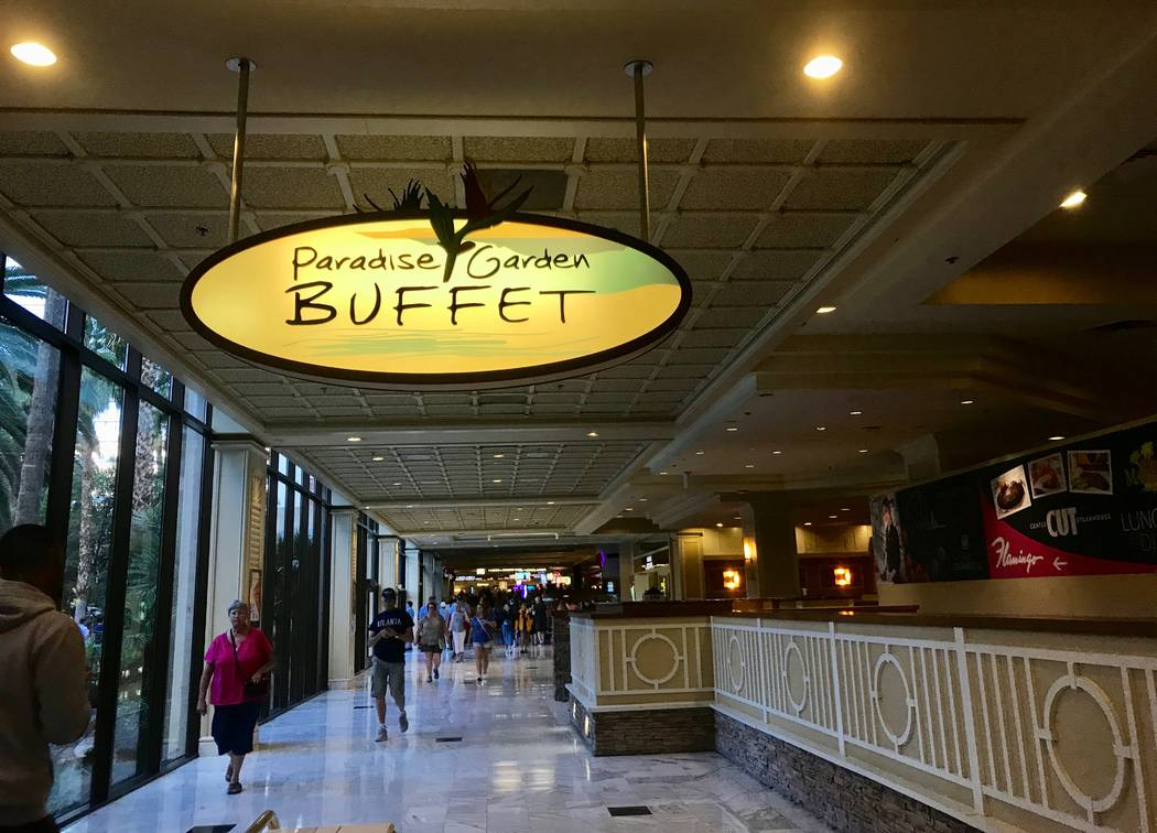 Organics (mostly food waste) make up about 50 percent of the total waste diverted at Caesars' ten Southern Nevada properties. The Paradise Garden Buffet at the Flamingo is pictured Oct. 24. (Mad ...