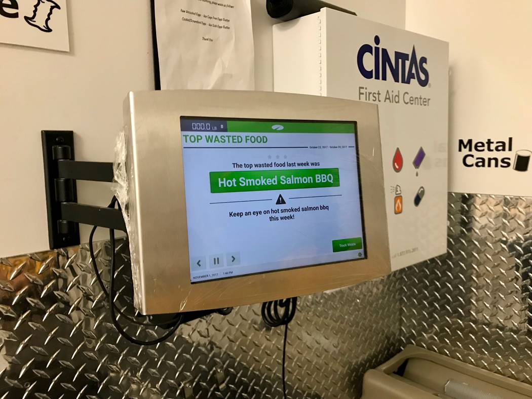 The electronic LeanPath system tracks the food waste in Ikea's cafes and kitchens and creates reports on how much food was tossed, its dollar value and any trends in disposal.  (Madelyn Reese/View ...