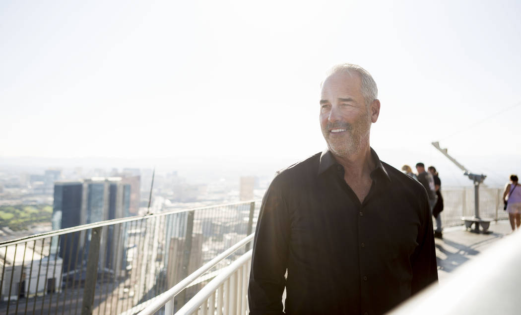Golden Entertainment Chairman and CEO Blake Sartini Tuesday, Oct 31, 2017, in Las Vegas, on top of the Stratosphere Tower, which he recently acquired. Elizabeth Brumley Las Vegas Review-Journal @E ...