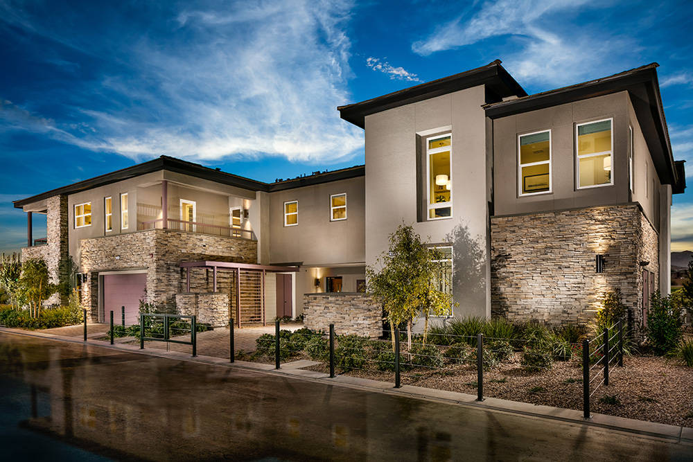 Three new model homes are now open at Fairway Hills by Toll Brothers, an enclave of luxurious condominiums in The Ridges village within Summerlin. (Summerlin)