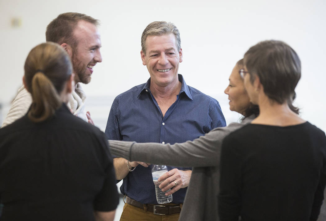 Roy Kaiser, middle, the new artistic director for the Nevada Ballet Theatre, directs the rehearsal on Friday, Nov. 3, 2017, in Las Vegas. Benjamin Hager Las Vegas Review-Journal @benjaminhphoto