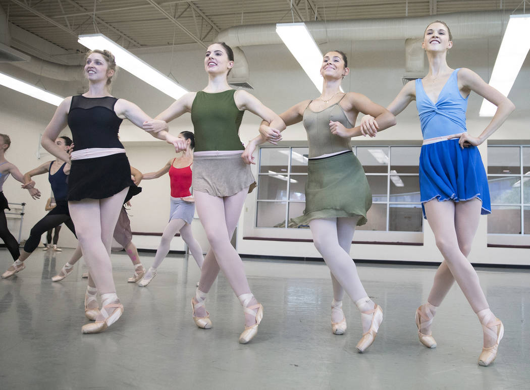 "Dancers with the Nevada Ballet Theatre rehearse ""Western Symphony"" on Friday, Nov. 3, 2017, in Las Vegas. Benjamin Hager Las Vegas Review-Journal @benjaminhphoto"