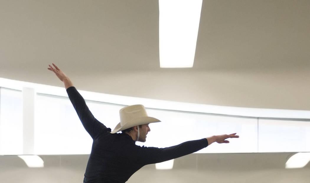 "Nevada Ballet Theatre's Benjamin Tucker rehearses ""Western Symphony"" on Friday, Nov. 3, 2017, in Las Vegas. Benjamin Hager Las Vegas Review-Journal @benjaminhphoto"