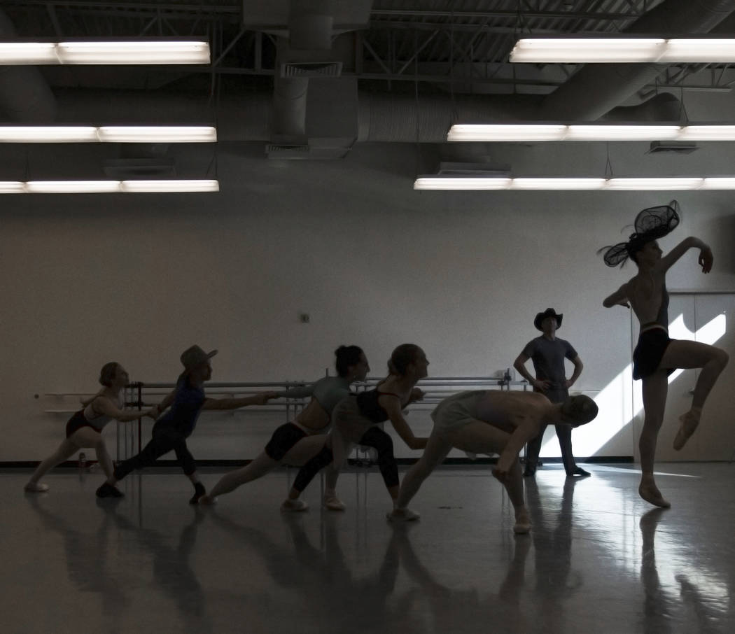 "The Nevada Ballet Theatre rehearses ""Western Symphony"" on Friday, Nov. 3, 2017, in Las Vegas. Benjamin Hager Las Vegas Review-Journal @benjaminhphoto"