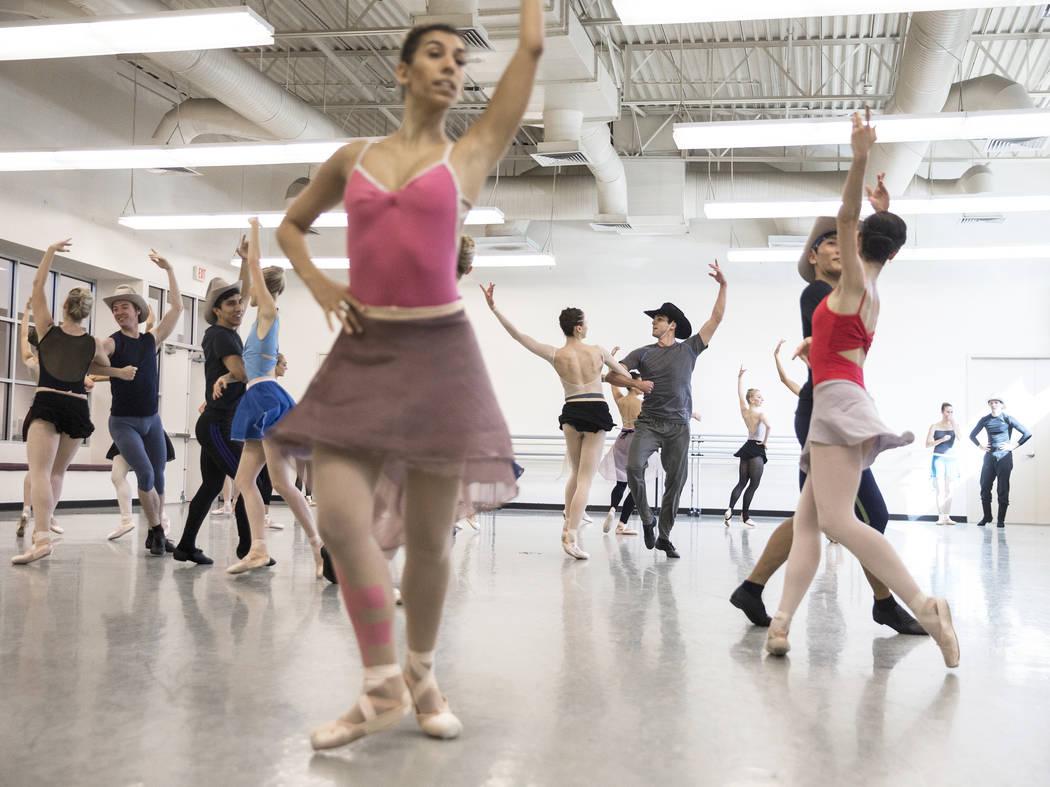 "The Nevada Ballet Theatre rehearses ""Western Symphony"" on Friday, Nov. 3, 2017, in Las Vegas. Benjamin Hager Las Vegas Review-Journal @benjaminhphoto"