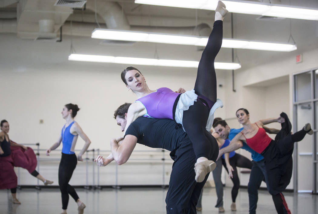 "The Nevada Ballet Theatre rehearses ""Company B"" on Friday, Nov. 3, 2017, in Las Vegas. Benjamin Hager Las Vegas Review-Journal @benjaminhphoto"