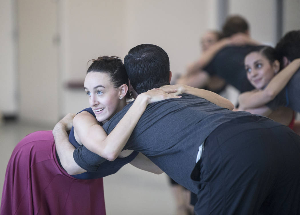 "Nevada Ballet Theatre's Krista Baker, left, rehearses  ""Company B"" on Friday, Nov. 3, 2017, in Las Vegas. Benjamin Hager Las Vegas Review-Journal @benjaminhphoto"